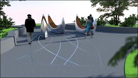 Christie Park Art Installation graphic